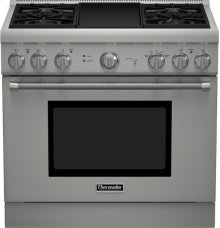 36 inch Professional Series Pro Harmony Standard Depth All Gas Range PRG364GDH