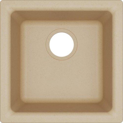 "Elkay Quartz Classic 15-3/4"" x 15-3/4"" x 7-11/16"", Single Bowl Dual Mount Bar Sink, Sand"