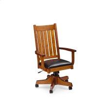 Grant Arm Desk Chair, Fabric Cushion Seat