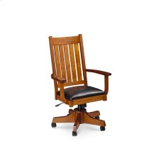 Grant Arm Desk Chair, Leather Cushion Seat
