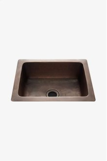 "Normandy 14 15/16"" x 11 7/16"" x 5 11/16"" Hammered Copper Bar Sink with Center Drain STYLE: NOSK25"