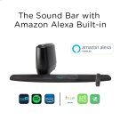 The Home Theater Sound Bar System with Amazon Alexa Built-in in BLACK Product Image