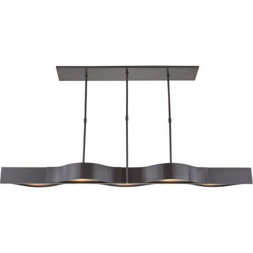 Visual Comfort KW5523BZ-FG Kelly Wearstler Avant 5 Light 60 inch Bronze Linear Pendant Ceiling Light