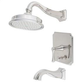 Weathered Brass Balanced Pressure Tub & Shower Trim Set