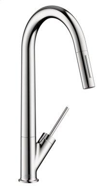 Chrome Starck 2-Spray HighArc Kitchen Faucet, Pull-Down