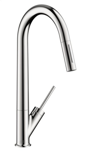 Chrome Starck 2-Spray HighArc Kitchen Faucet, Pull-Down Product Image