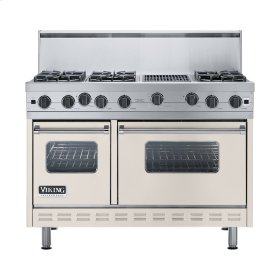 "Oyster Gray 48"" Open Burner Range - VGIC (48"" wide, six burners 12"" wide char-grill)"