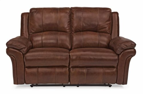 Dandridge Leather Power Reclining Loveseat