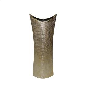 """Ceramic 23.5"""" Mermaid's Purse Vase, Gold"""