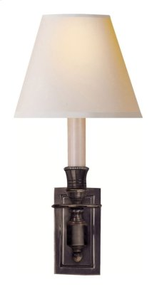 Visual Comfort S2210BZ-NP Studio French 1 Light 6 inch Bronze Decorative Wall Light in Natural Paper
