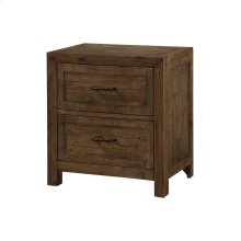 2 Drawer Nightstand-burnished Pine Finish