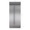 """Sub-Zero 36"""" Classic Side-By-Side Refrigerator/freezer"""
