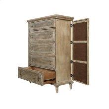 Interlude - 5 Drawer 2 Door Chest-sandstone Finish