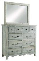 Tall Dresser \u0026 Mirror - Mint Finish Product Image