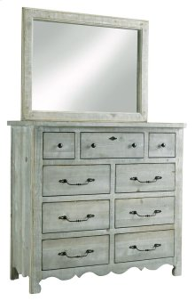 Tall Dresser \u0026 Mirror - Mint Finish