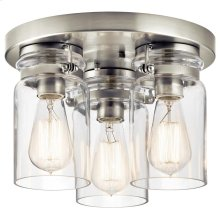 Brinley Collection Brinley 3 Light Flush Mount in NI