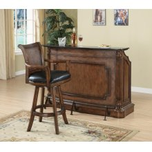 Traditional Ornate Brown Bar Unit