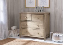 Cambridge Mix and Match 3 Drawer Dresser - Rustic Whitewash (112)