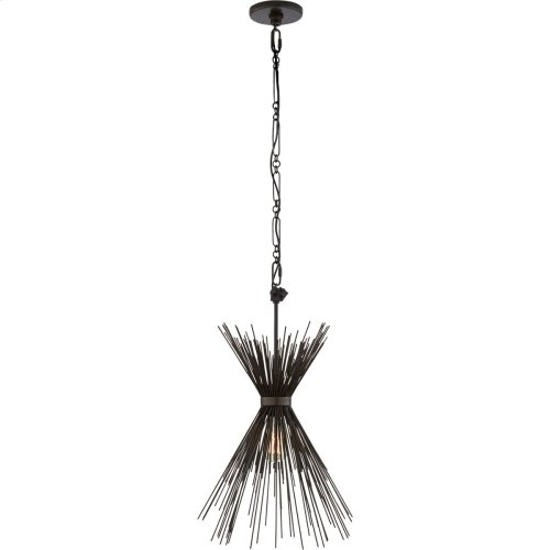 Visual Comfort KW5077AI Kelly Wearstler Strada 9 inch Aged Iron Pendant Ceiling Light, Kelly Wearstler, Small