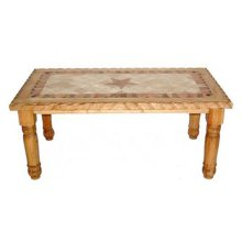 7' Rope Edge Marble Star Table