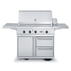 """Stainless Steel 41"""" Ultra-Premium T-Series Grill with TruSear Infrared Burner- VGIQ (41"""" wide with two standard 25,000 BTU stainless steel burners and one 30,000 BTU TruSear infrared burner (Natural Gas))"""