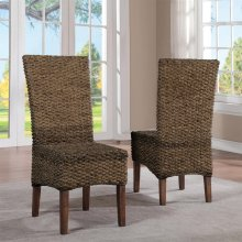 Mix-n-match Chairs - Woven Side Chair - Hazelnut Finish