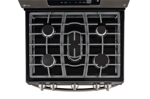 LG Black Stainless Steel Series 5.4 cu. ft. Single Oven Gas Range with EasyClean®