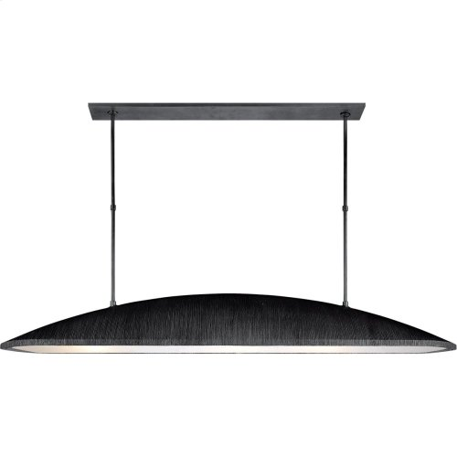 Visual Comfort KW5550AI-FA Kelly Wearstler Utopia 3 Light 60 inch Aged Iron Linear Pendant Ceiling Light, Kelly Wearstler, Large, Frosted Acrylic Shade