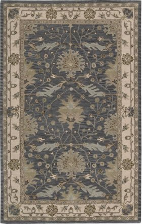 """INDIA HOUSE IH75 BL RECTANGLE RUG Available in Sizes: 2'.3""""X 7'.6"""",  2'.6""""X 4'.0"""",  3'.6""""X 5'.6"""",  5'.0""""X 8'.0"""",  8'.0""""X 10'.6"""""""