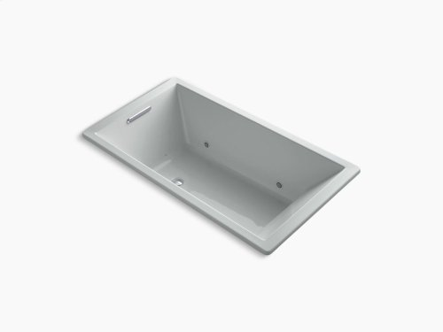 """Ice Grey 66"""" X 36"""" Drop-in Vibracoustic + Bubblemassage Air Bath With Bask Heated Surface and Chromatherapy"""