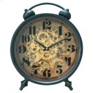 Black and Brass Gear Table Clock Product Image
