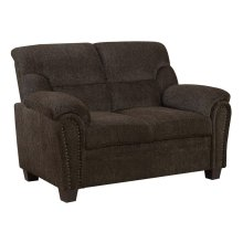 Clementine Casual Brown Loveseat