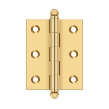 "2-1/2""x 2"" Hinge, w/ Ball Tips - PVD Polished Brass"
