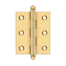 "2-1/2""x 2"" Hinge, w/ Ball Tips - PVD Polished Brass"