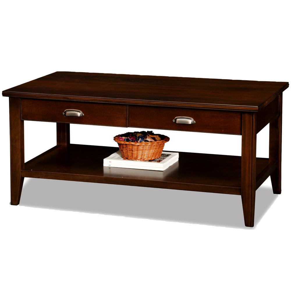 Two Drawer Coffee Table - Laurent Collection #10504