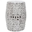 Flower & Vine Garden Stool - White And Charcoal Product Image