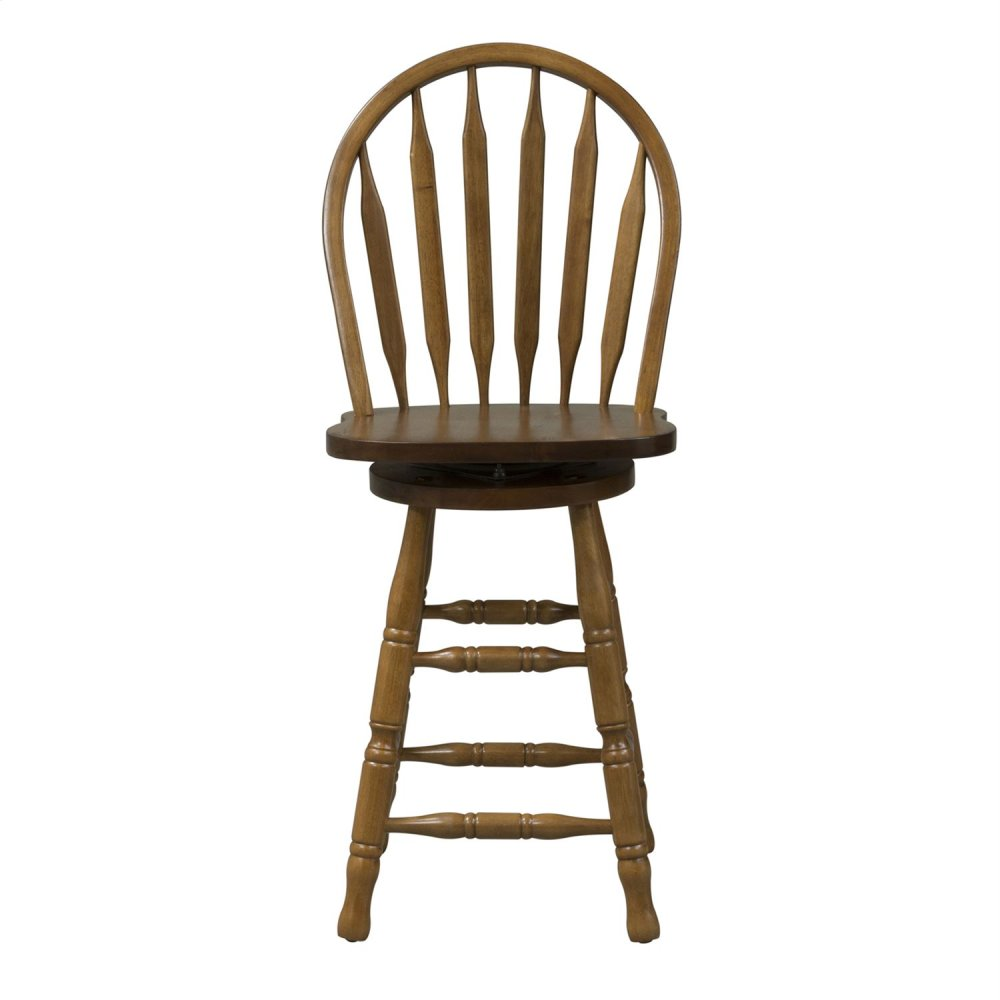 10b55324liberty Furniture Industries 24 Inch Arrow Back Barstool