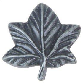 Vineyard Leaf Knob 2 Inch - Charcoal