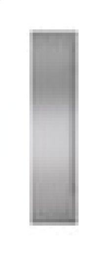 "Built-In 48"" Stainless Steel Flush Inset Freezer Door Panel with Tubular Handle"