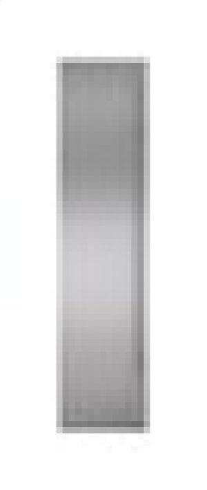 "Built-In 42"" Stainless Steel Flush Inset Freezer Door Panel with Tubular Handle"