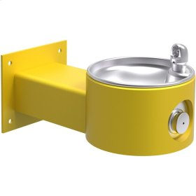 Elkay Outdoor Fountain Wall Mount, Non-Filtered Non-Refrigerated, Yellow