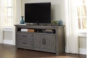 64 Inch Console - Distressed Dark Gray Finish Product Image