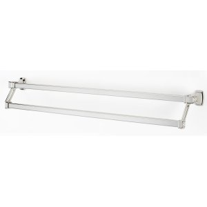Cube Double Towel Bar A6525-31 - Polished Nickel