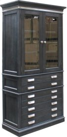 "40"" Glass Door Bookcase Product Image"