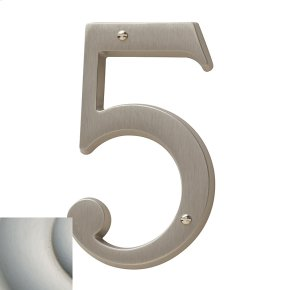 Satin Nickel with Lifetime Finish House Number - 5