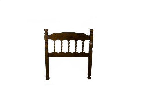 "Dark Pine Spindle 3"" Post Headboard - Queen"
