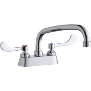 """Elkay 4"""" Centerset with Exposed Deck Faucet with 8"""" Arc Tube Spout 4"""" Wristblade Handles Product Image"""