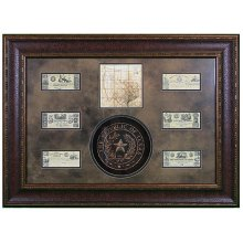 Shadowbox W/Seal,Map & Money