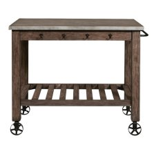 Metal Top Industrial Kitchen Island
