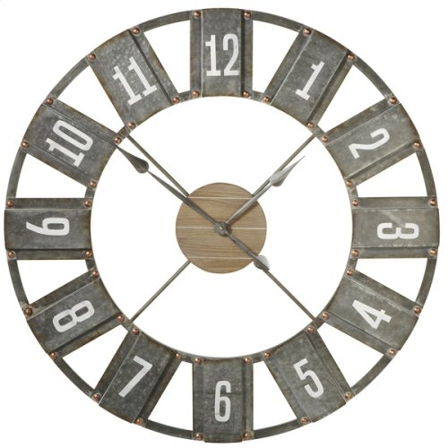 Weathered Black Open Face Wall Clock